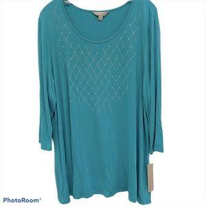 LAURA ASHLEY Aqua top | dress XL